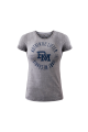 Authentic Lifter Plate Print ladies t-shirt With Navy- Medium