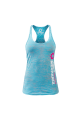 Body Mechanix Stack Burnout Ladies Blue Tank- Small