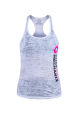 Body Mechanix Stack Burnout Ladies White Tank- Small